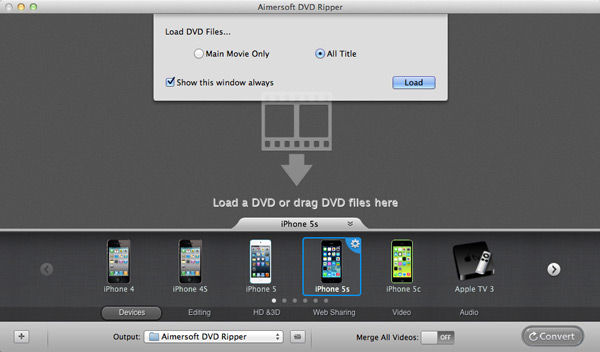 import DVD to Apple TV