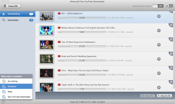 aimersoft free youtube downloader for mac downloading