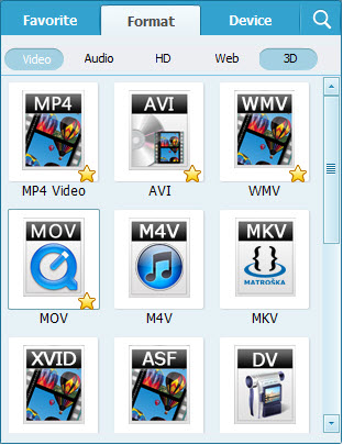 video converter format screenshot