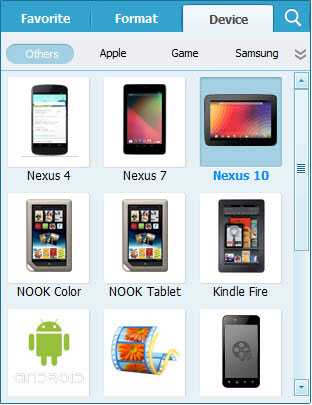 convert dvd to nexus tablet
